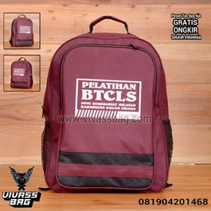 Tas Seminar Kit Ransel Murah Merah Marun – Vivass Bag Product