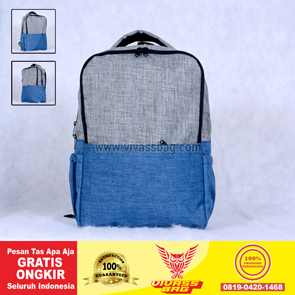 Tas Ransel Seminar Denim Warna Biru Abu Muda – Vivass Bag Product