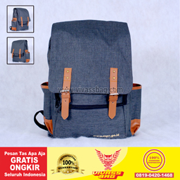 Tas Ransel Seminar Kit Denim Warna Abu – Vivass Bag Product