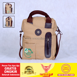 Tas Seminar Kanvas Sling Bag Warna Krem – Vivass Bag Product